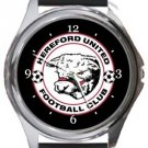 Hereford United FC Round Metal Watch