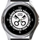 Hednesford Town FC Round Metal Watch