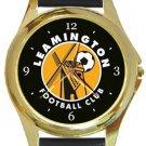 Leamington FC Gold Metal Watch