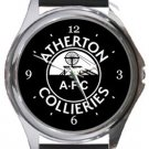 Atherton Collieries AFC Round Metal Watch