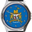 Clitheroe FC Round Metal Watch