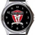 Witton Albion FC Round Metal Watch