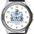 Marine AFC Round Metal Watch
