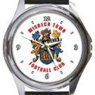 Wisbech Town FC Round Metal Watch