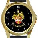 Hitchin Town FC Gold Metal Watch