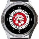 Poole Town FC Round Metal Watch