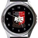 Aylesbury FC Round Metal Watch