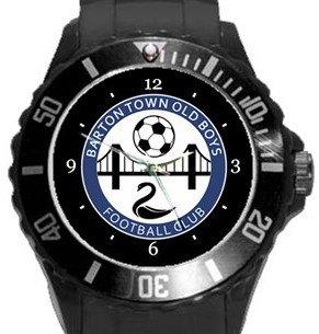 Barton Town FC Plastic Sport Watch In Black