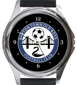 Barton Town FC Round Metal Watch