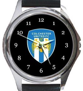 Colchester United FC Round Metal Watch