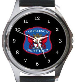 Carlisle United FC Round Metal Watch