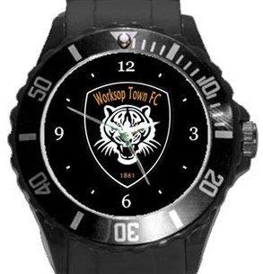 Worksop Town FC Plastic Sport Watch In Black