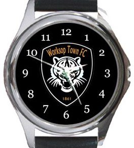 Worksop Town FC Round Metal Watch