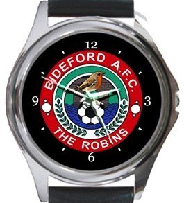 Bideford AFC Round Metal Watch