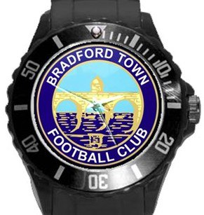 Bradford Town FC Plastic Sport Watch In Black