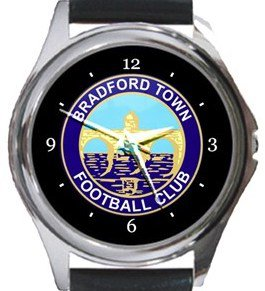 Bradford Town FC Round Metal Watch