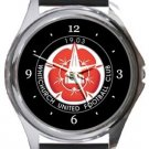 Whitchurch United FC Round Metal Watch