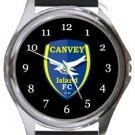 Canvey Island FC Round Metal Watch