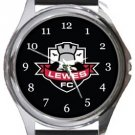 Lewes FC Round Metal Watch