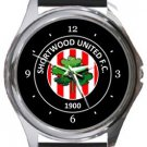 Shortwood United FC Round Metal Watch