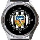 Tooting & Mitcham Wanderers FC Round Metal Watch