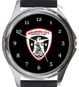 Guildford City FC Round Metal Watch