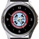 Badshot Lea FC Round Metal Watch