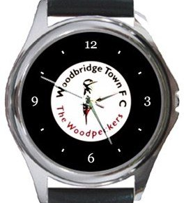 Woodbridge Town FC Round Metal Watch