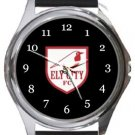 Ely City FC Round Metal Watch