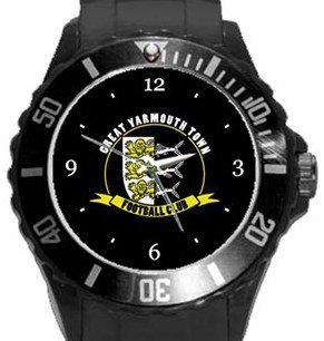 Great Yarmouth Town FC Plastic Sport Watch In Black