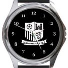 Long Melford FC Round Metal Watch