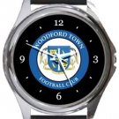 Woodford Town FC Round Metal Watch