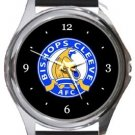 Bishop's Cleeve AFC Round Metal Watch