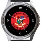 Walsall Wood FC Round Metal Watch