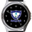 Whitley Bay FC Round Metal Watch