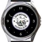 Shoreham FC Round Metal Watch