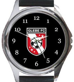 Glebe FC Round Metal Watch