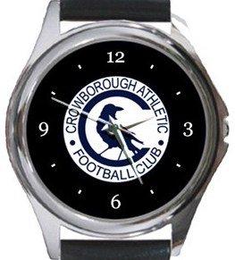 Crowborough Athletic FC Round Metal Watch