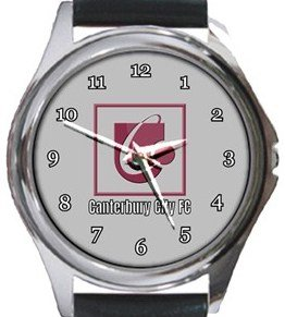 Canterbury City FC Round Metal Watch