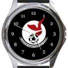 Leighton Town FC Round Metal Watch