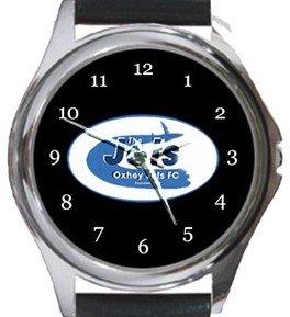 Jets Oxhey FC Round Metal Watch