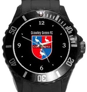 Crawley Green FC Plastic Sport Watch In Black