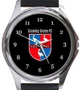 Crawley Green FC Round Metal Watch
