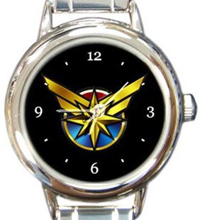 Captain Marvel Round Italian Charm Watch