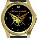 Captain Marvel Gold Metal Watch