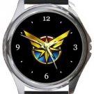 Captain Marvel Round Metal Watch