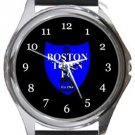 Boston Town FC Round Metal Watch