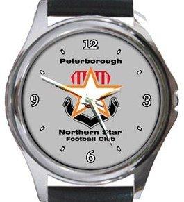Peterborough Northern Star FC Round Metal Watch