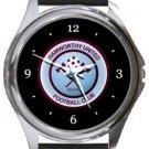 Hamworthy United FC Round Metal Watch