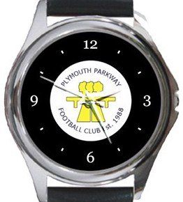 Plymouth Parkway FC Round Metal Watch